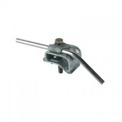 Odkvapová svorka s upevňovacou skrutkou Rd 8-10mm rozsah uchytenia 16-22mm, FeZn