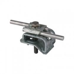 Odkvapová svorka s upevňovacou skrutkou 2xRd 8-10mm rozsah uchytenia 16-22mm, FeZn