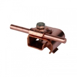Odkvapová svorka Rd 6-10mm rozsah uchytenia 16-22mm, Cu