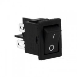 Kolískový prepínač, 2-pólový, 10A/250VAC, čierny
