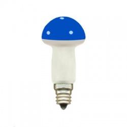 20V/0,1A žiarovka hríbik, E10, modrá