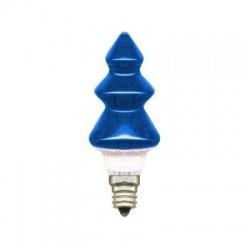 20V/0,1A žiarovka stromček, E10, modrá