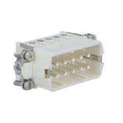PIN10, 16A, 250V, 4kV, vidlica