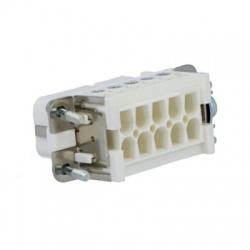 PIN10, 16A, 250V, 4kV, zásuvka