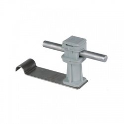 Podpera vedenia Rd 8 pod škridlovú krytinu snap, V 36mm, L 90mm, nerez, sivá