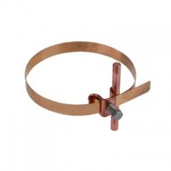 Podpera vedenia Rd 6-8 pre rúry 50-120 s upínacou hlavou M8, meď/bronz