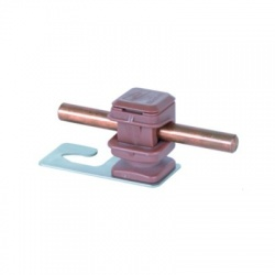 Podpera vedenia Rd 8 Snap 16 hnedý pre vlnitú strechu svorka hák 5 a 8, nerez V2A