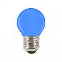 LQ SMD 1W/010, E27, LED žiarovka, modrá