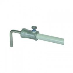 Oddialený zvod GFK16 - puzdro pre dilatáciu + tyč Rd8 uhol 90°