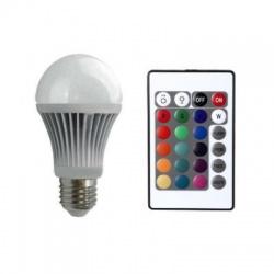 XQ-1381 3,5W, E27-RBG s diaľkovým ovládaním, LED žiarovka,