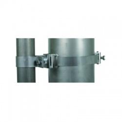 Objímka-pásková k upevneniu trubky 50mm, montáž na trubky 50-300, nadstavec 30 mm