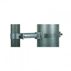 Objímka-pásková k upevneniu trubky 50mm, montáž na trubky 50-300 nástavec 100mm