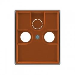 5011E-A00300 07 kryt TV+R+(SAT) zásuvky, karmínová/ľadová sivá