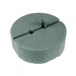 Betónový podstavec D 240mm/8,5kg s klinom Rd16 a Rd10