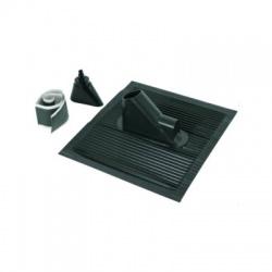 Strešná prechodka Rd 10/16/48mm, pre sklon 24°-53°, rozmer 450x500, čierna