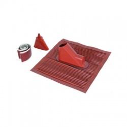 Strešná prechodka Rd 10/16/48mm, pre sklon 24°-53°, rozmer 450x500, červená