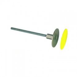Uzemňovací bod nerez Rd80mm, M12/M10, závitová oska L180mm FeZn