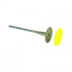 Uzemňovací bod nerez Rd80mm, M12/M10, nalisovaná oska L180mm FeZn