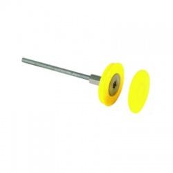 Uzemňovací bod nerez Rd80mm, M12/M10, závitová oska L180mm FeZn + plastový krúžok