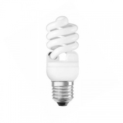 15W/840 E27, studená biela, kompaktná žiarivka