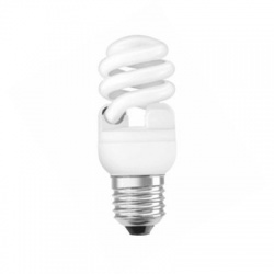 15W/827 E27, teplá biela, kompaktná žiarivka