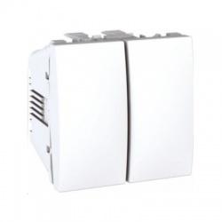MGU3.213.18 vypínač č. 6+6, 10A, biely