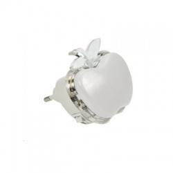 Nočné LED svetielko jablko, 0,5W, RGB, 230V, vypínač