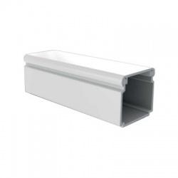 LV 24x22 P2 lišta so samolepiacou páskou, 2m, biela