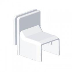 8738 HB 18x13 kryt priechodkový zvýšený, biely