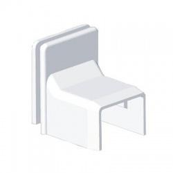 8797 HB 24x22 kryt priechodkový, biely