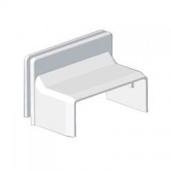 8719 HB 40x15 kryt priechodkový, biely