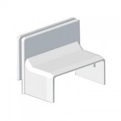 8719 Z HB 40x15 kryt priechodkový zvýšený, biely