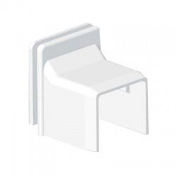 8629 HB 20x20 kryt priechodkový, biely