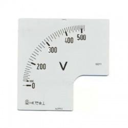 Stupnica pre ampérmeter 400V, 72x72xmm