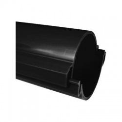 06110/2 FA chránička 110 tuhá KOPOHALF , v rozloženom stave, bezhalogénová, čierna