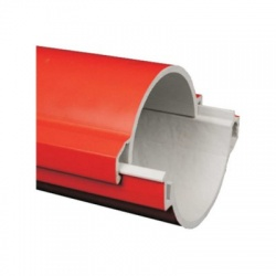 06110P/2 BAD chránička 110 tuhá KOPOHALF ,zaklapnuté do seba, červená