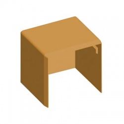 8641 SD 40x40 kryt koncový, svetlé drevo