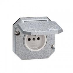 5518-2790 zásuvka vstavaná IP55, sivá