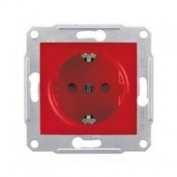 SDN3000341 zásuvka s bočným zemnením, červená