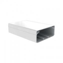 EKD 100x40 HD lišta hranatá, biela, 2m
