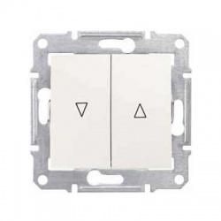 SDN1300123 žalúziový spínač s elektrickým blokovaním, krémový
