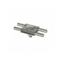 Paralelná svorka pre 2 vodiče s rovnakými priemermi, Rd 7-10mm, nerez V4A