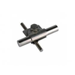 Univerzálna svorka MV kruhový vodič Rd 8-10 tyč 16mm, nerez