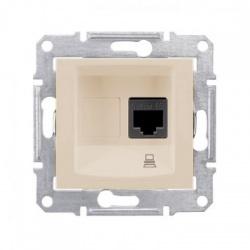 SDN4300147 1xRJ45 UTP Cat.5E zásuvka, béžová