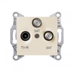 SDN3502147 TV-SAT-SAT zásuvka, 1dB, koncová, béžová