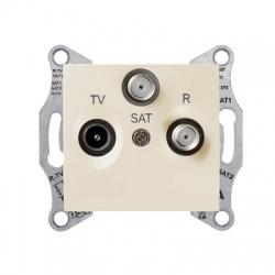 SDN3501247 TV-SAT-R zásuvka, 8dB, priebežná, béžová