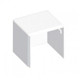 8641HF HB 40x40 kryt koncový bezhalogénový, biely