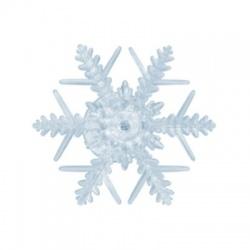 KID331/WH dekorácia do okna - snehová vločka, studená biela