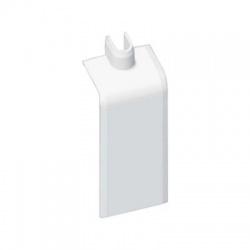 8824/40 HB 80x25 kryt odbočný prechodový, biely