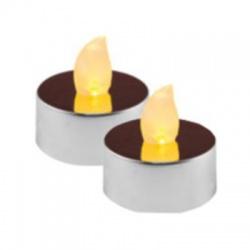 CD2/SILVER LED čajová sviečka, 2ks, lesklá strieborná